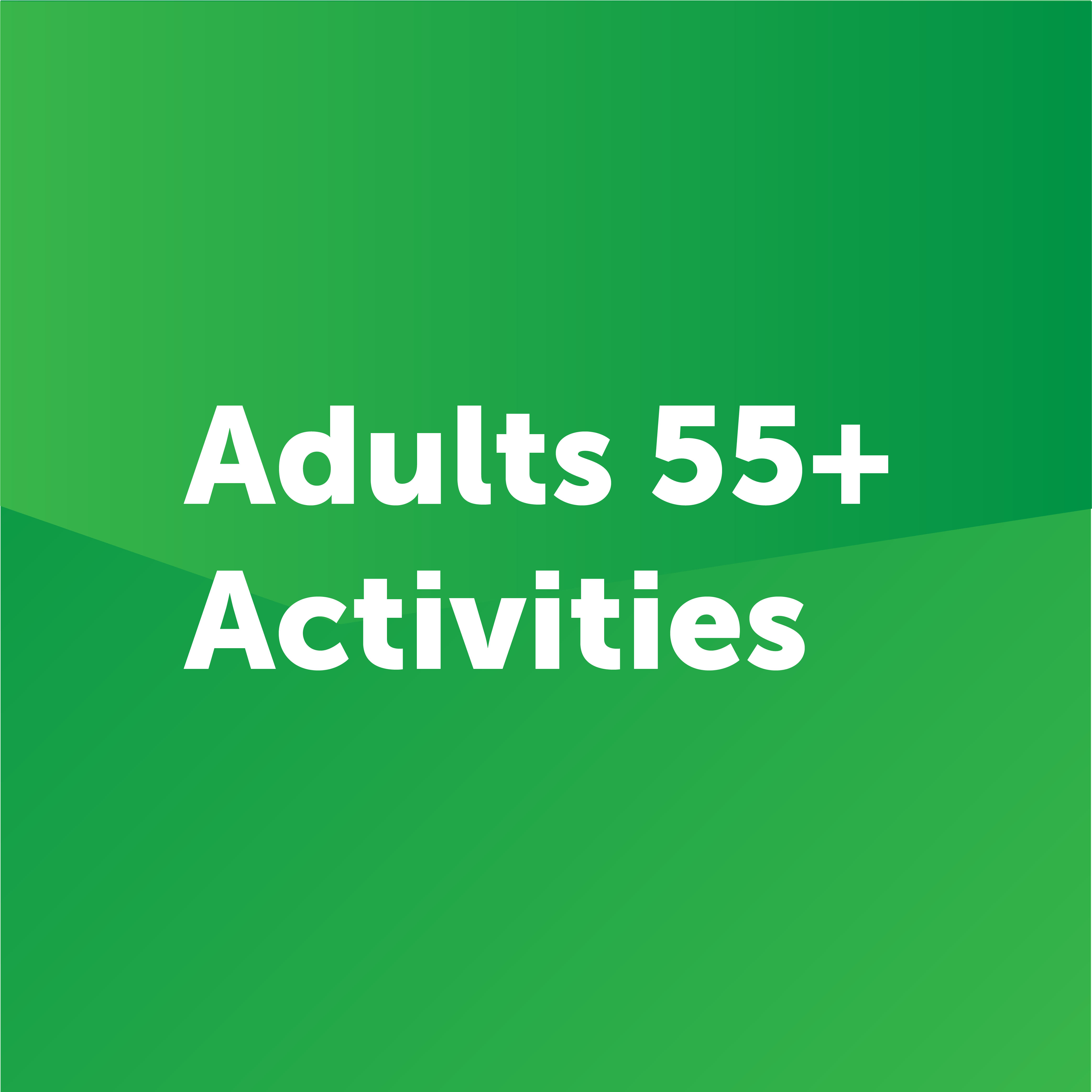 adults 55 plus activities button