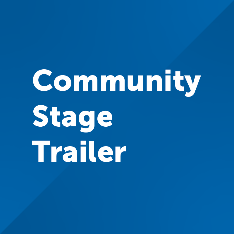 community stage trailer button