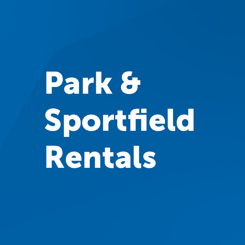 park and sportfield button